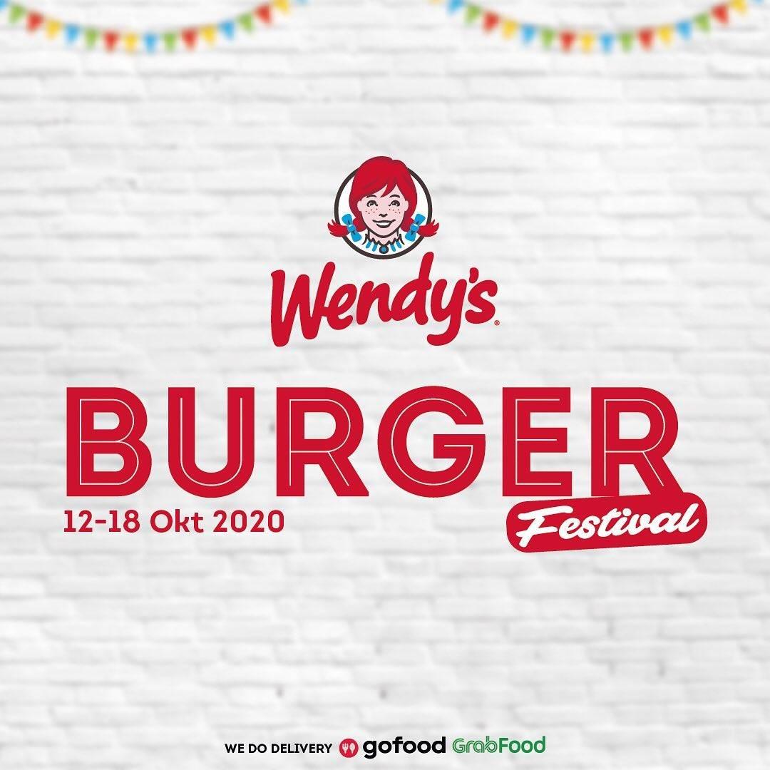 Diskon Wendys Promo Burger Festival Dengan Harga Mulai Dari Rp. 68.182