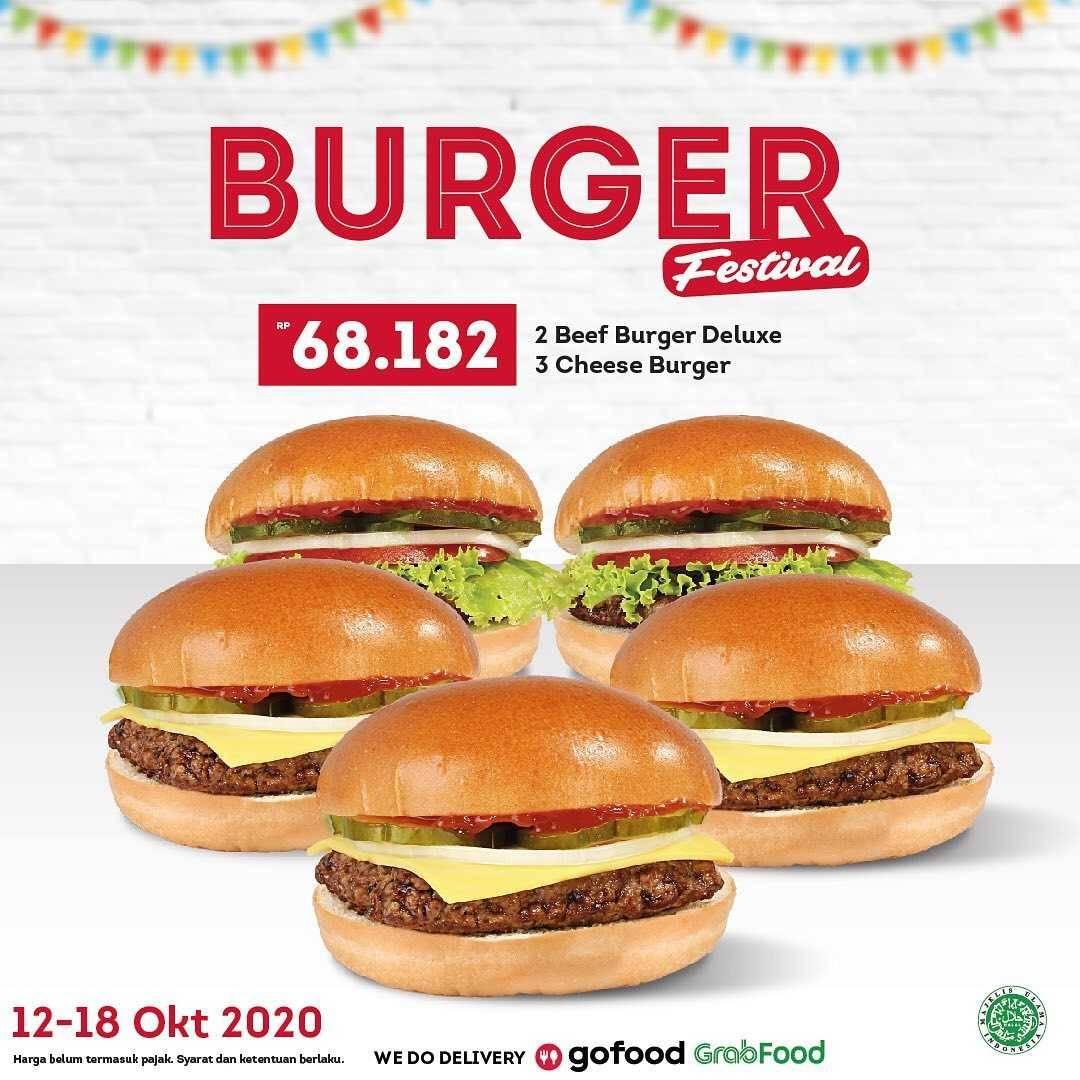 Promo diskon Wendys Promo Burger Festival Dengan Harga Mulai Dari Rp. 68.182