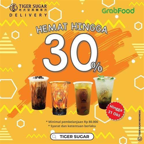 Diskon Tiger Sugar Promo GrabFood Diskon 30%