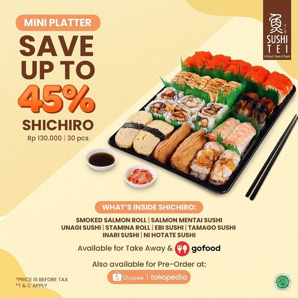 Diskon Sushi Tei Promo New Mini Platter