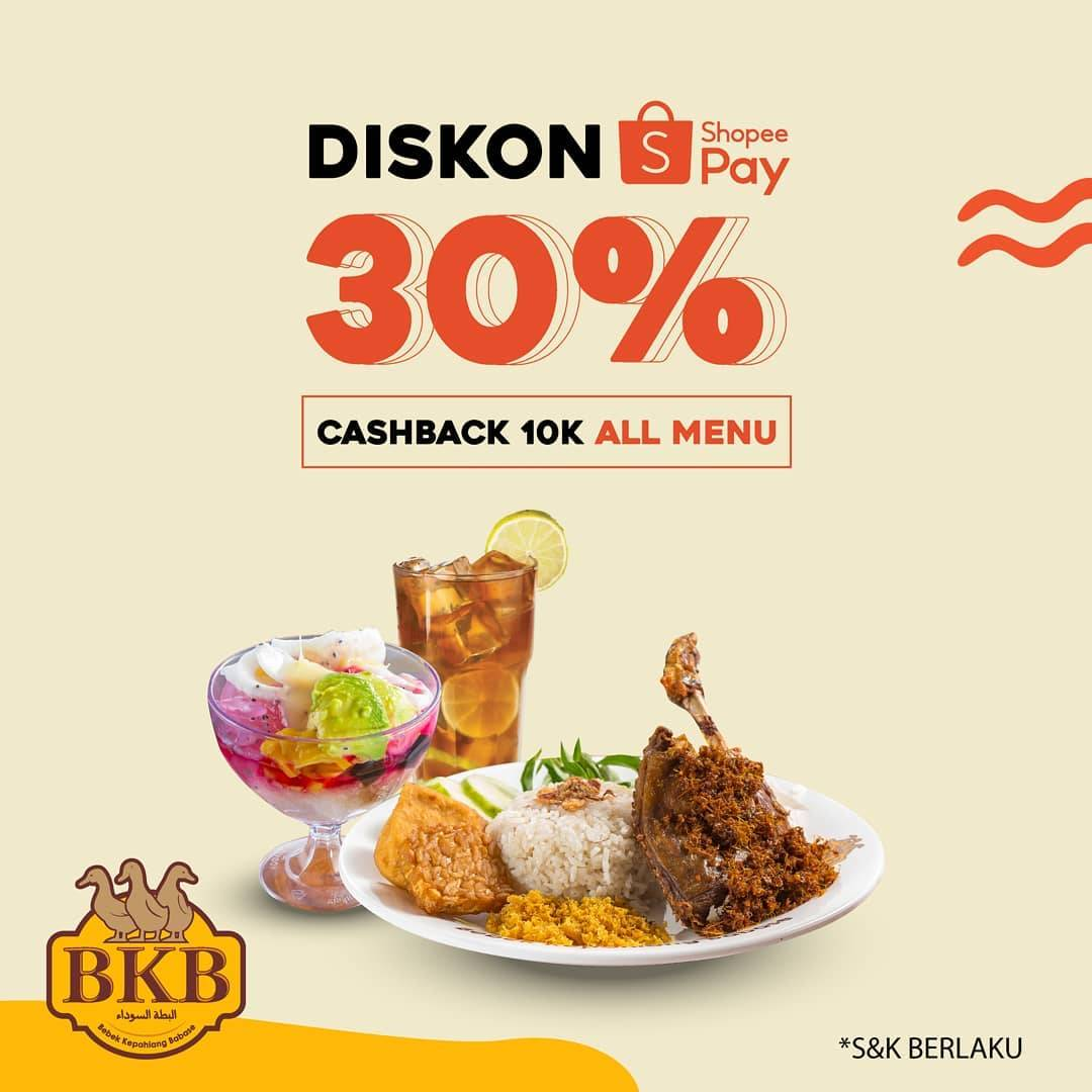 Diskon Bebek BKB Diskon 30% Dengan Shopeepay