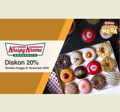 Diskon Krispy Kreme Promo Bank Mega Diskon 20%