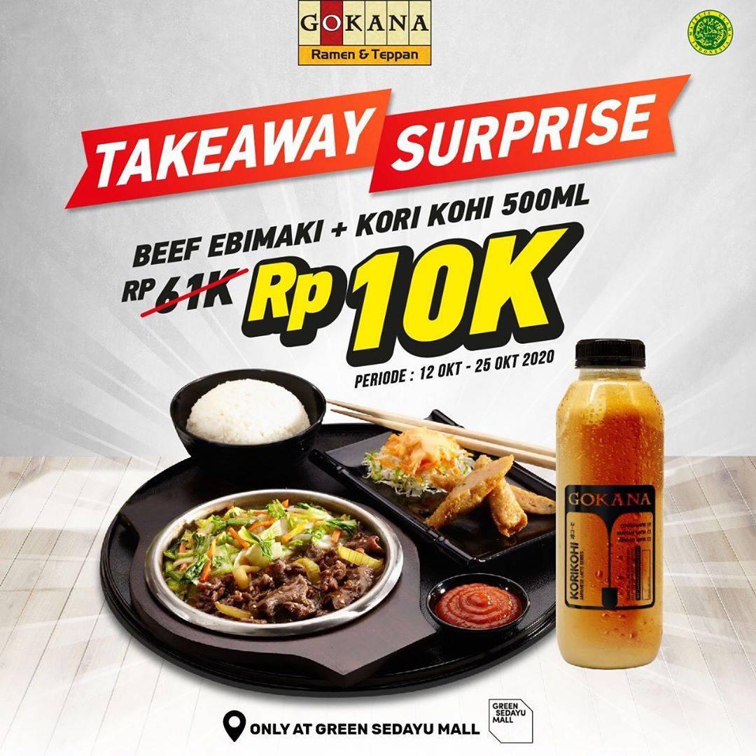 Diskon Gokana Green Sedayu Mall Promo Takeaway Surprise