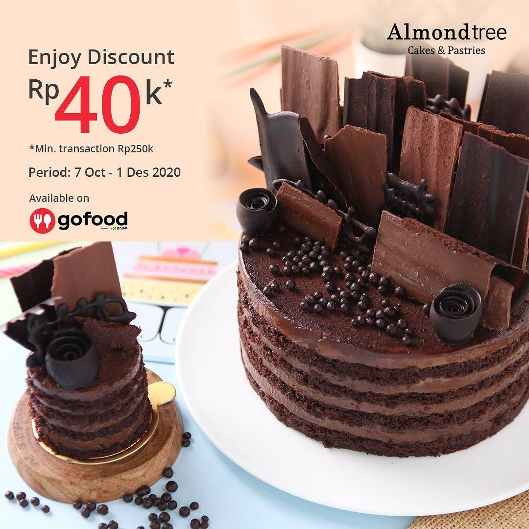 Diskon Almond Tree Cakes Discount Rp. 40.000 On GoFood