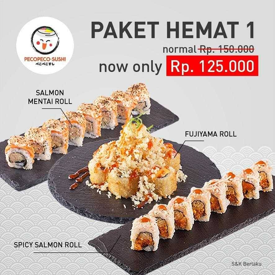 Promo diskon Peco Peco Sushi Promo Paket Hemat Oktober Di GrabFood