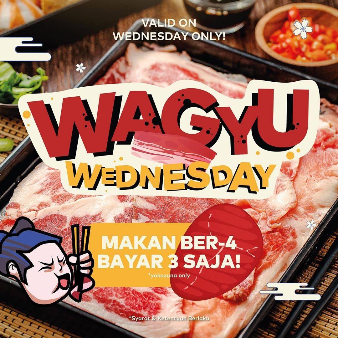 Diskon Kitamura Promo Wagyu Wednesday - Makan Berempat Bayar Bertiga