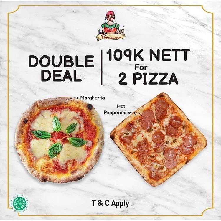 Diskon Popolamama Promo Double Deal Rp. 109.000 Nett For 2 Pizza