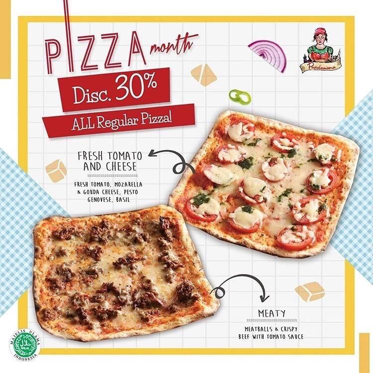 Diskon Popolamama Promo Pizza Month - Discount 30% On All Regular Pizza