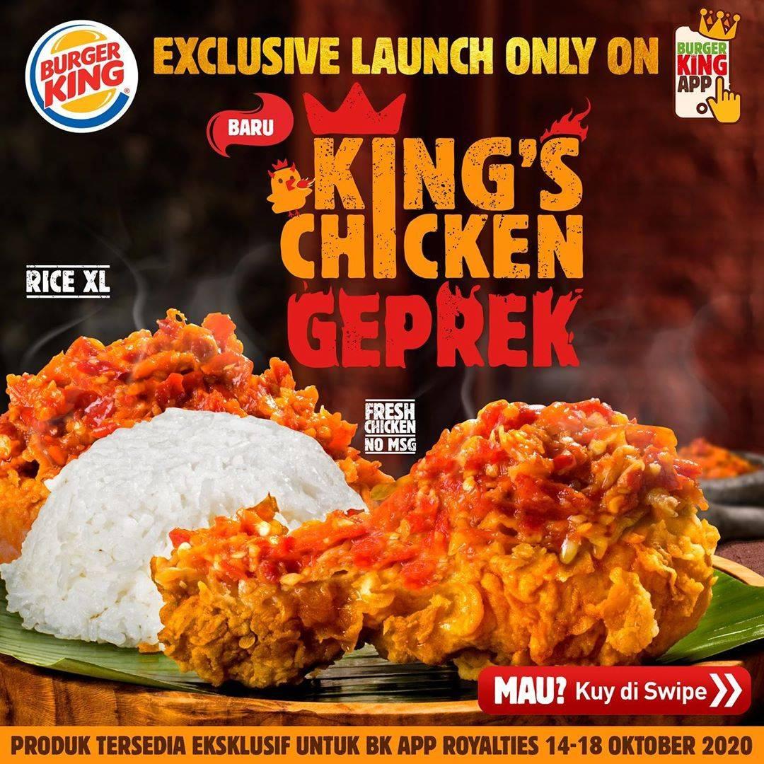 Diskon Burger King Kupon King's Chicken Geprek