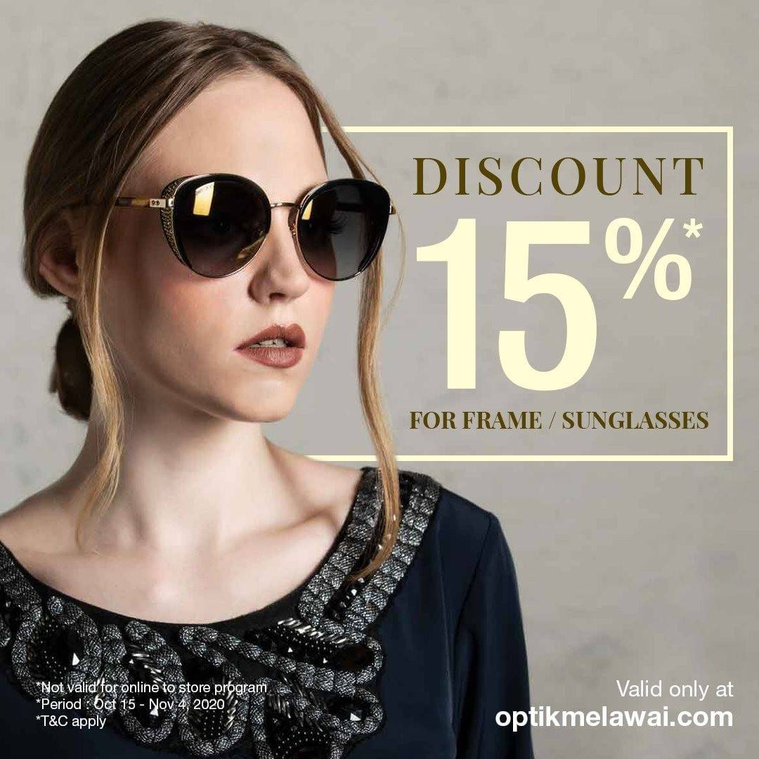 Diskon Optik Melawai Promo Discount 15% for Frame or Sunglasses