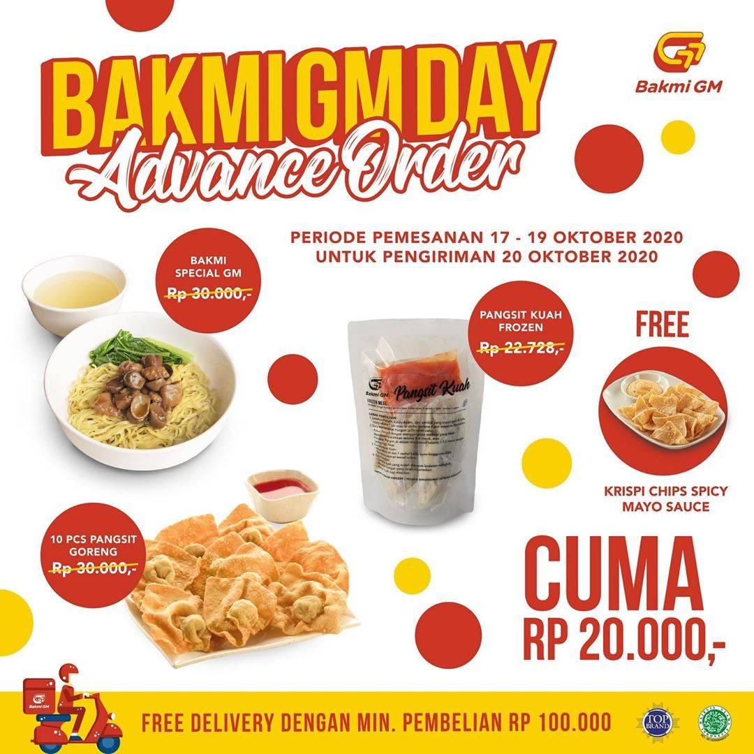 Diskon Bakmi GM Promo Bakmi GM Day Advance Order Only For Rp. 20.000