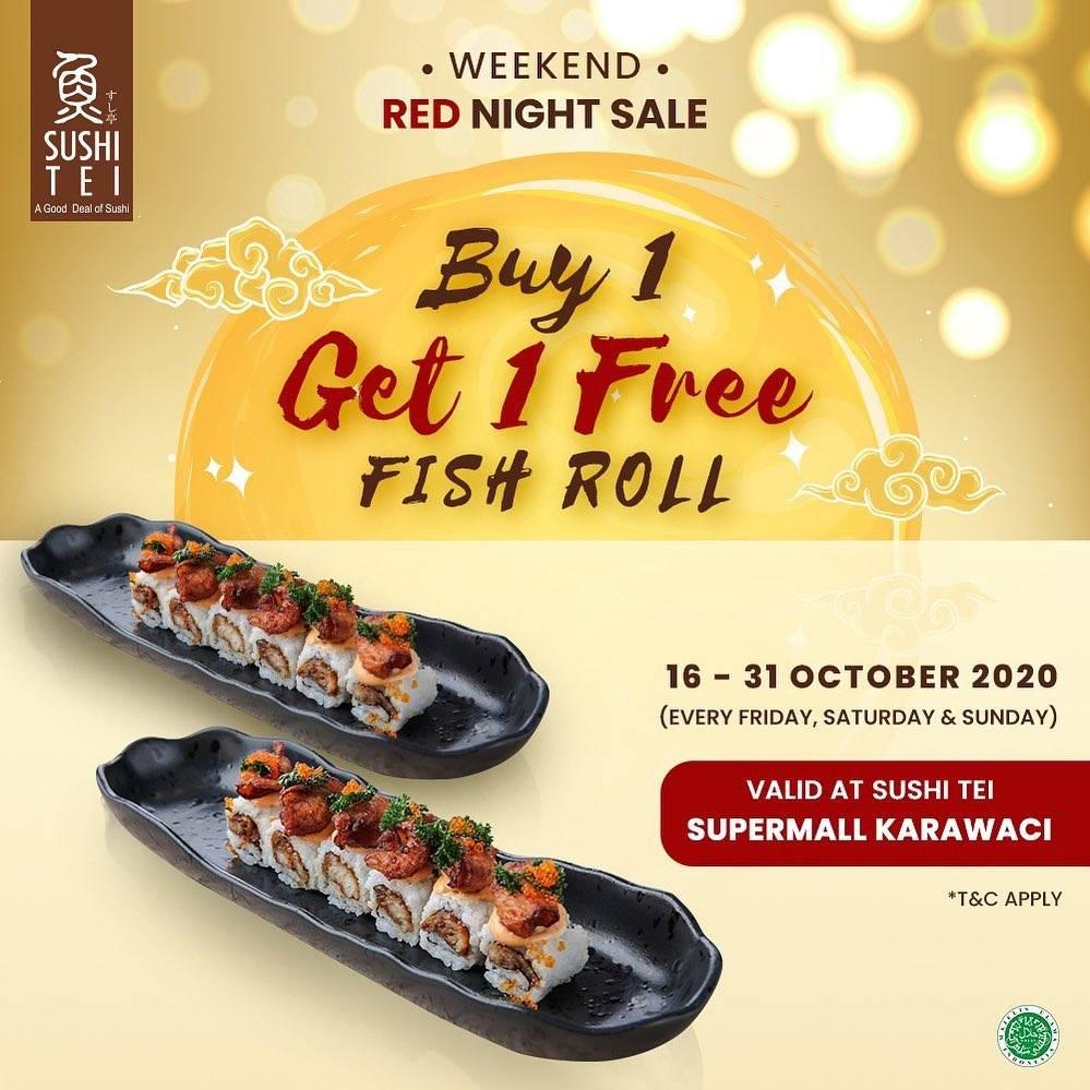 Diskon Sushi Tei Supermall Karawaci Buy 1 Get 1 Free Fish Roll
