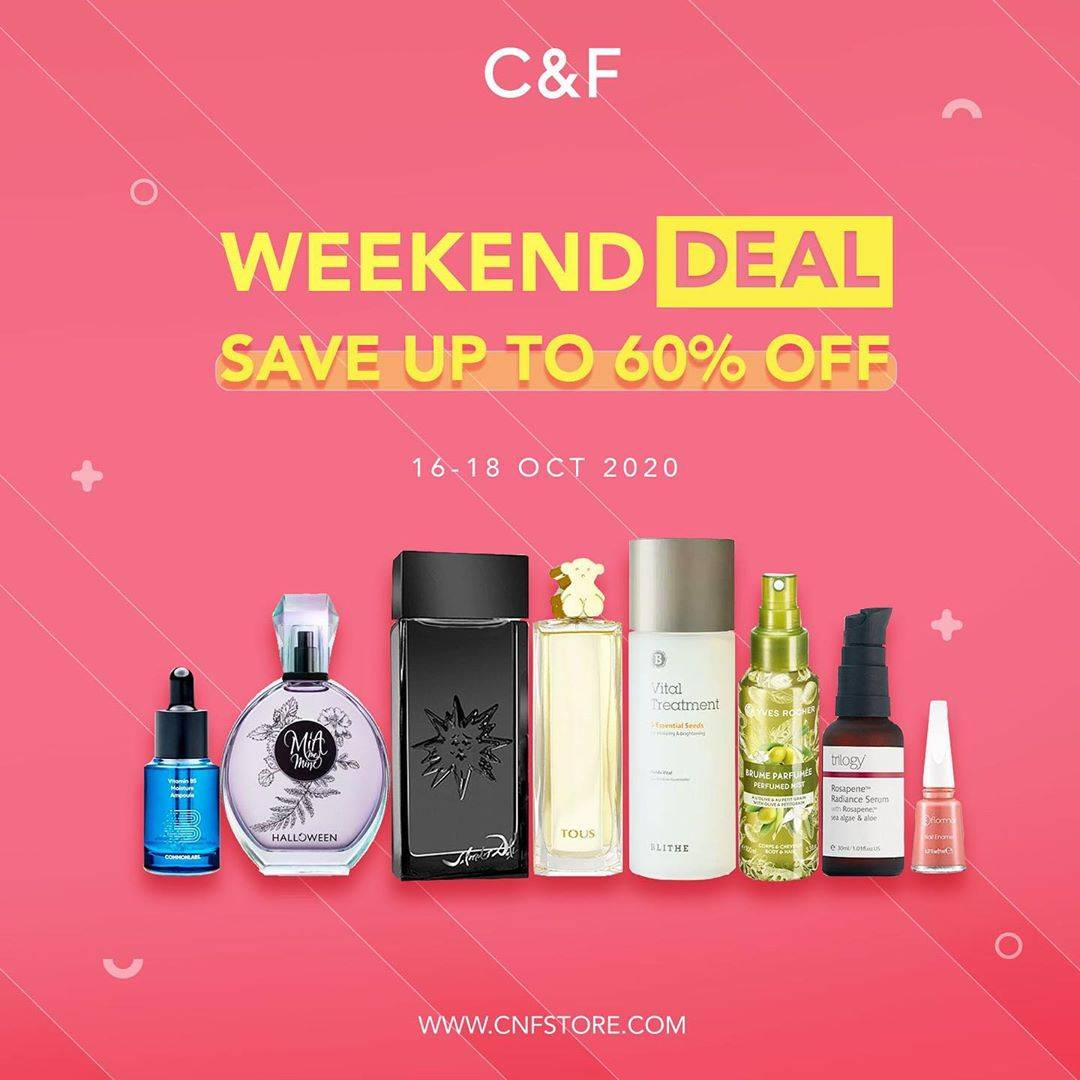 Diskon C&F Weekend Deal - Save Up To 60% Off
