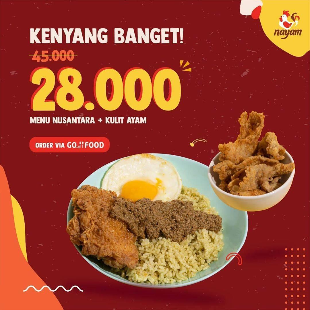 Diskon Nayam Promo Paket Kenyang Banget Hanya Rp. 28.000