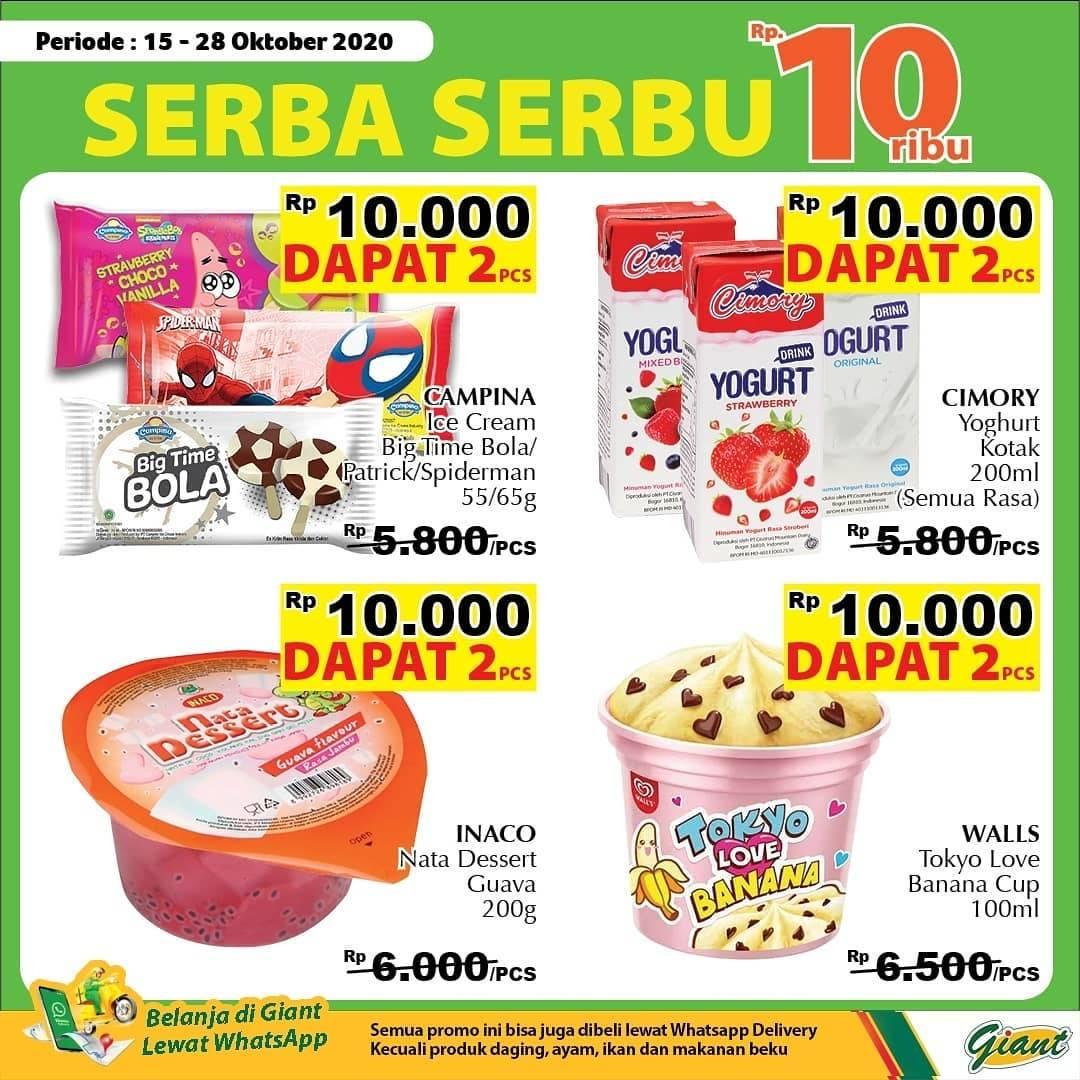 Diskon Katalog Promo Giant Serba Serbu 10.000!! Periode 15 - 28 Oktober 2020