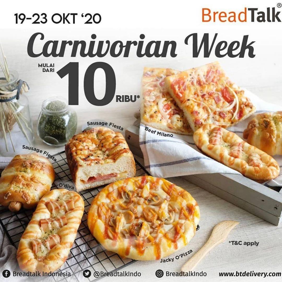 Diskon Breadtalk Promo Carnivorian Week