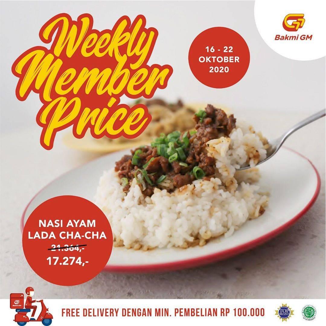Diskon Bakmi GM Promo Weekly Member Price