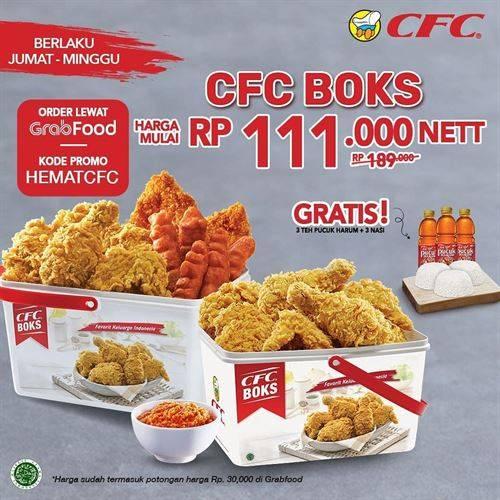 Diskon CFC Promo CFC Boks Hanya Rp. 111.000 Di GrabFood