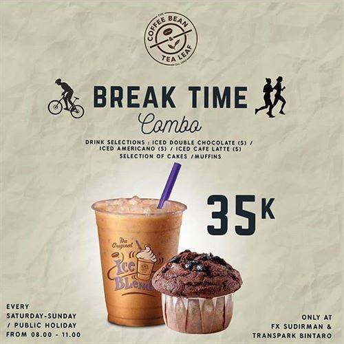 Diskon The Coffee Bean Promo Break Time Combo 35K