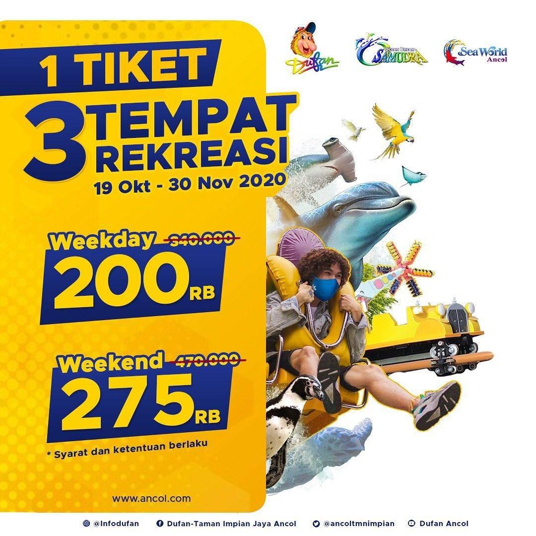 Diskon Dufan Promo 1 Tiket 3 Tempat Rekreasi Dengan Harga Mulai Dari Rp. 200.000