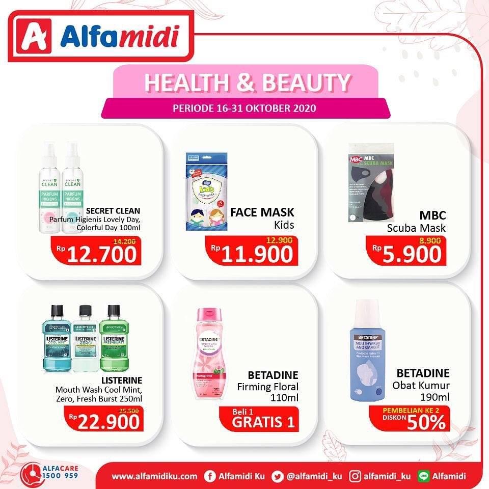 Diskon Katalog Promo Alfamidi Health and Beauty Periode 16 - 31 Oktober 2020