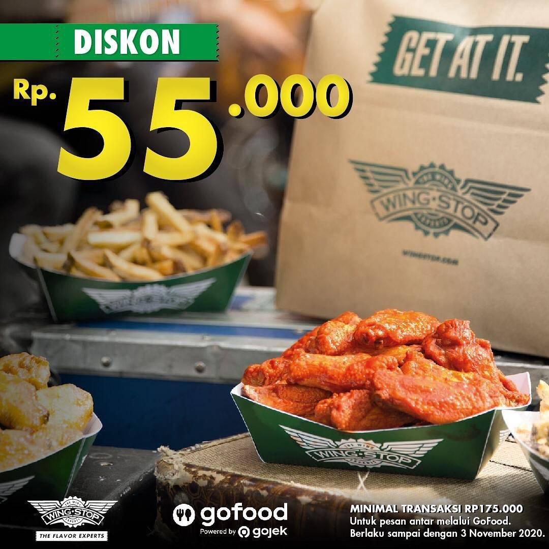 Diskon Wingstop Diskon Rp. 50.000 Di GoFood