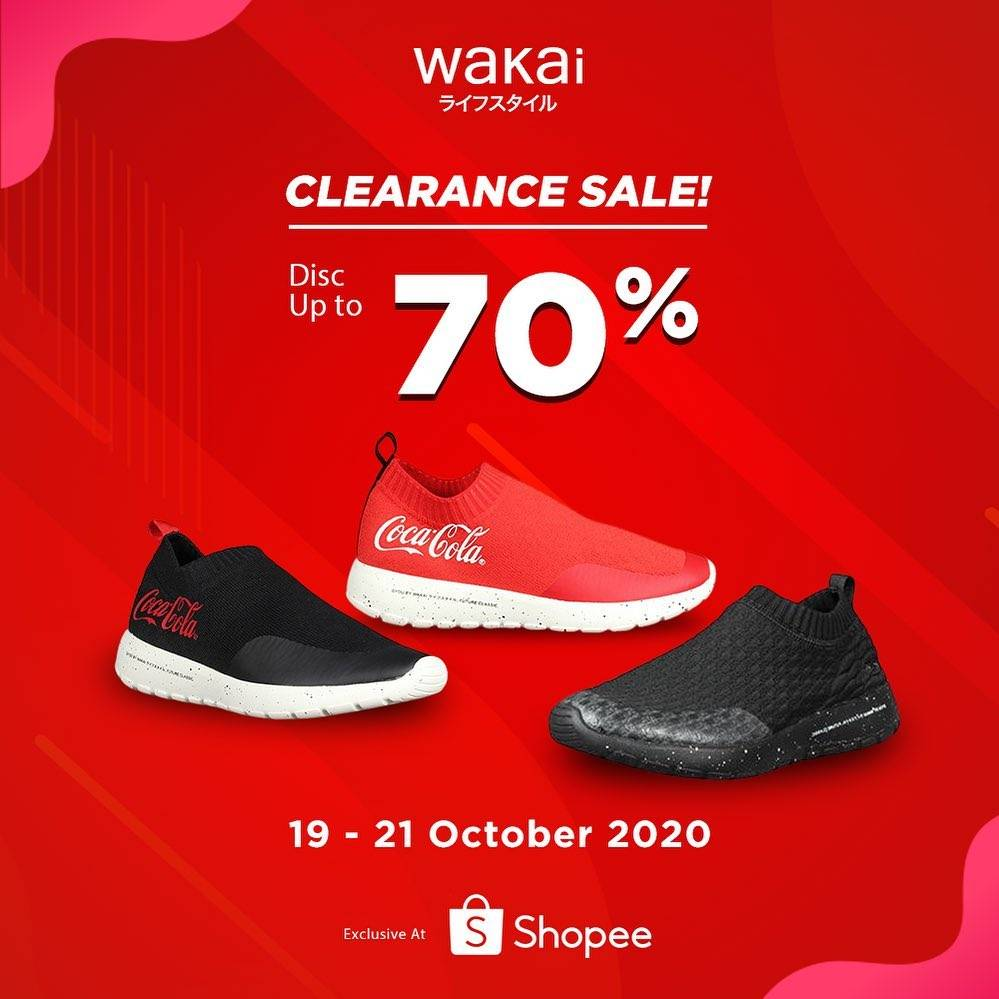 Diskon Wakai Clearence Sale Up To 70% Off On Shopee