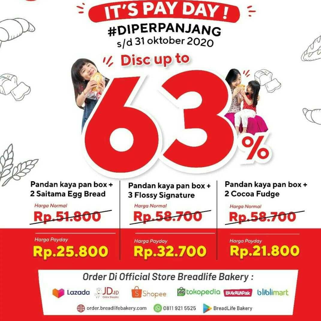 Promo diskon Breadlife It's Payday Discount Up To 63% Off