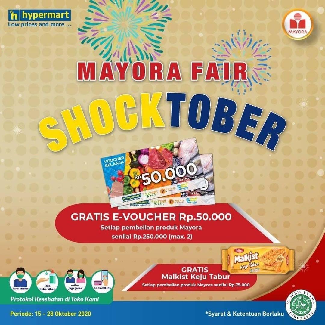 Diskon Hypermart Promo Mayorafair Shocktober Gratis E-Voucher Rp. 50.000