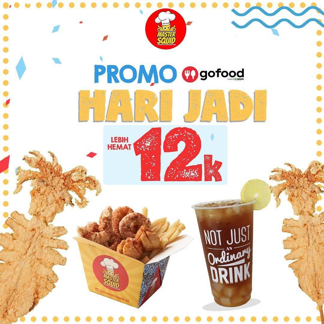 Diskon Master Squid Promo Hari Jadi - Menu Rp. 12.000 Di GoFood