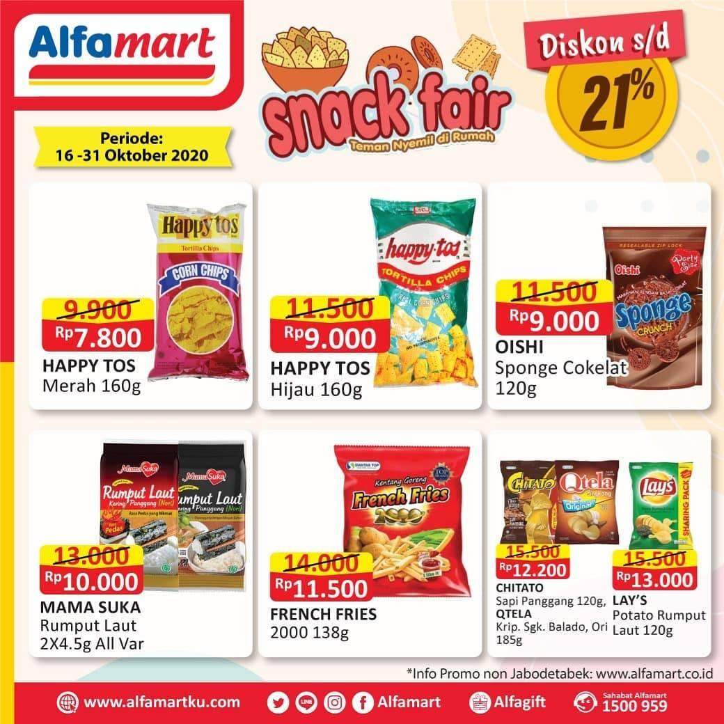 Diskon Katalog Promo Alfamart Snack Fair Periode 16 - 31 Oktober 2020