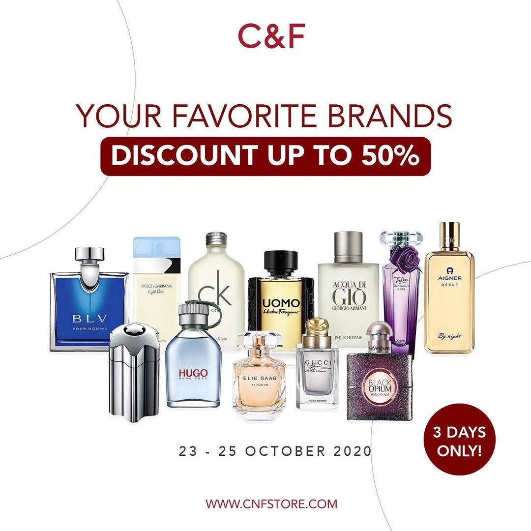 Diskon C&F Perfumery Discount Up To 50% On Favorite Brands Parfumes