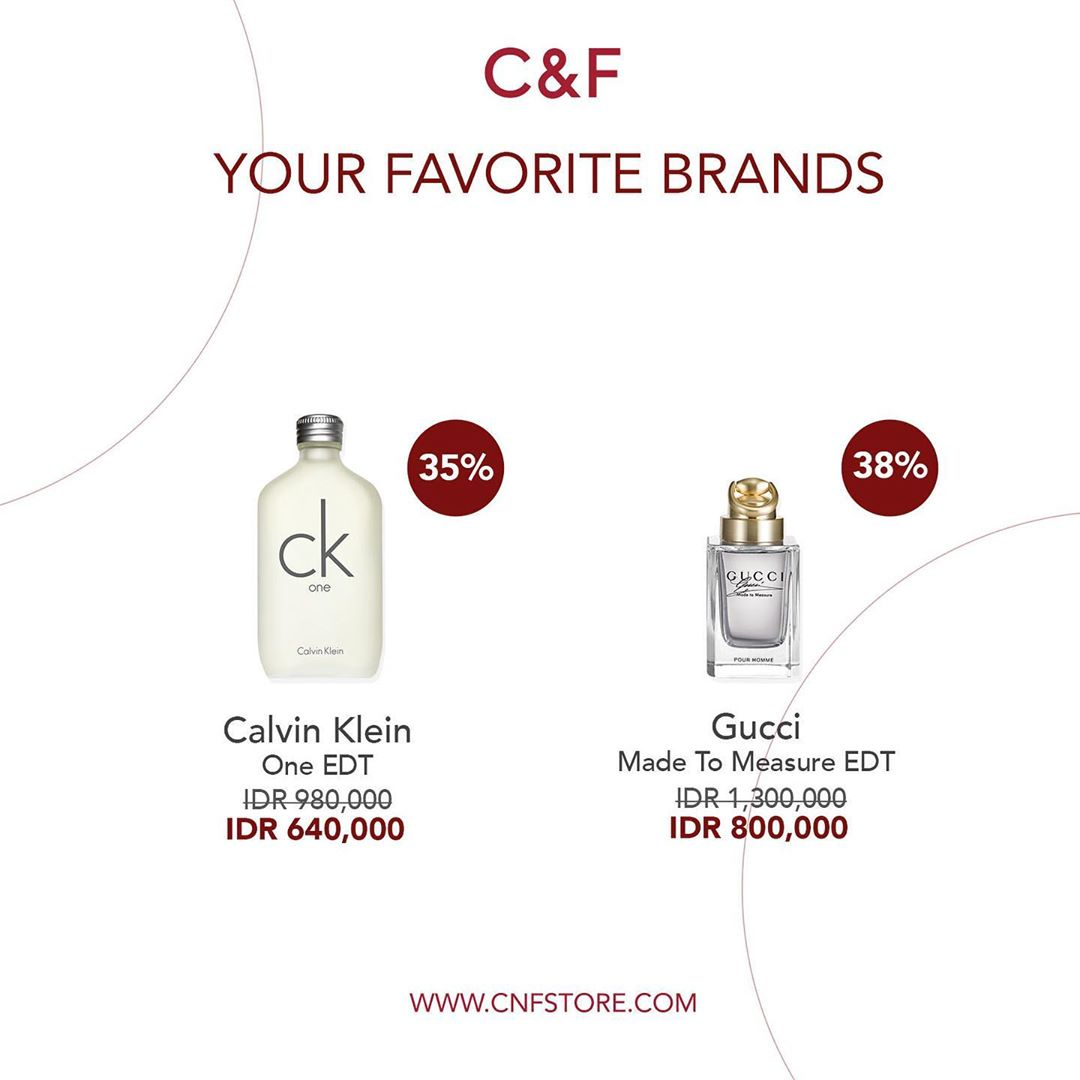 Promo diskon C&F Perfumery Discount Up To 50% On Favorite Brands Parfumes