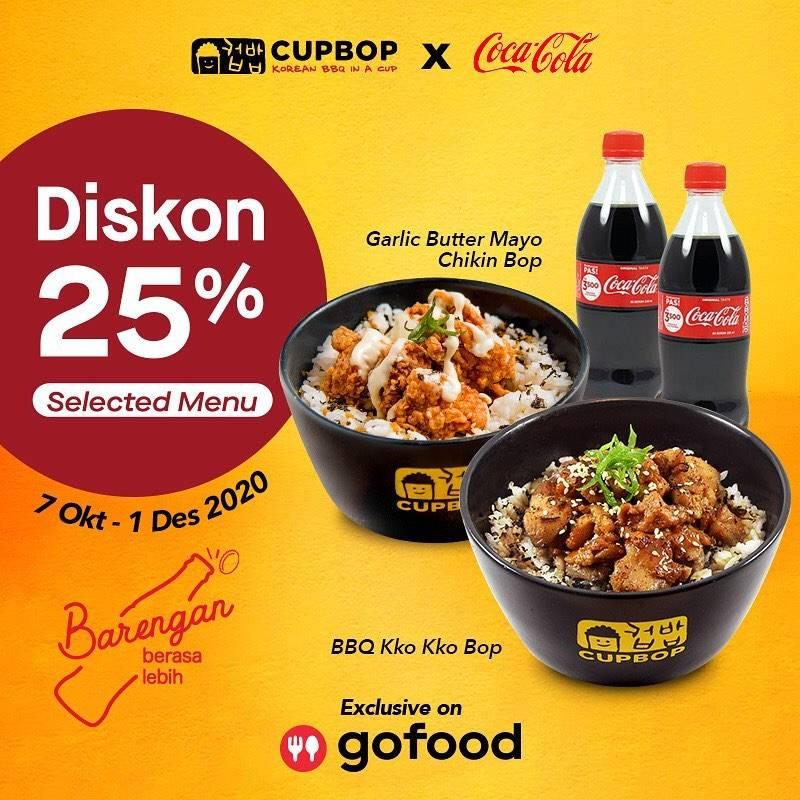 Diskon Cupbob Diskon 25% Di GoFood
