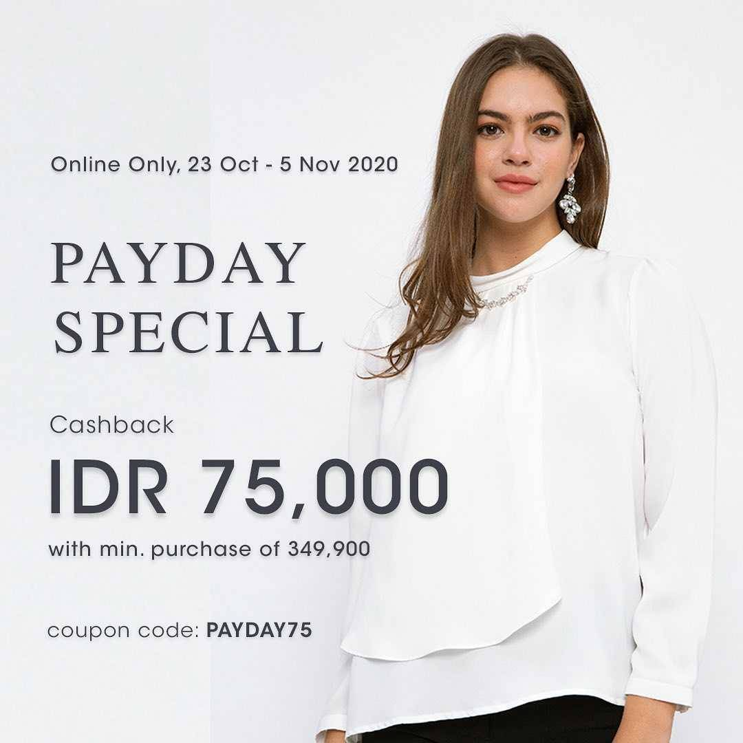 Diskon Minimal Promo Payday Special Cashback IDR. 75.000