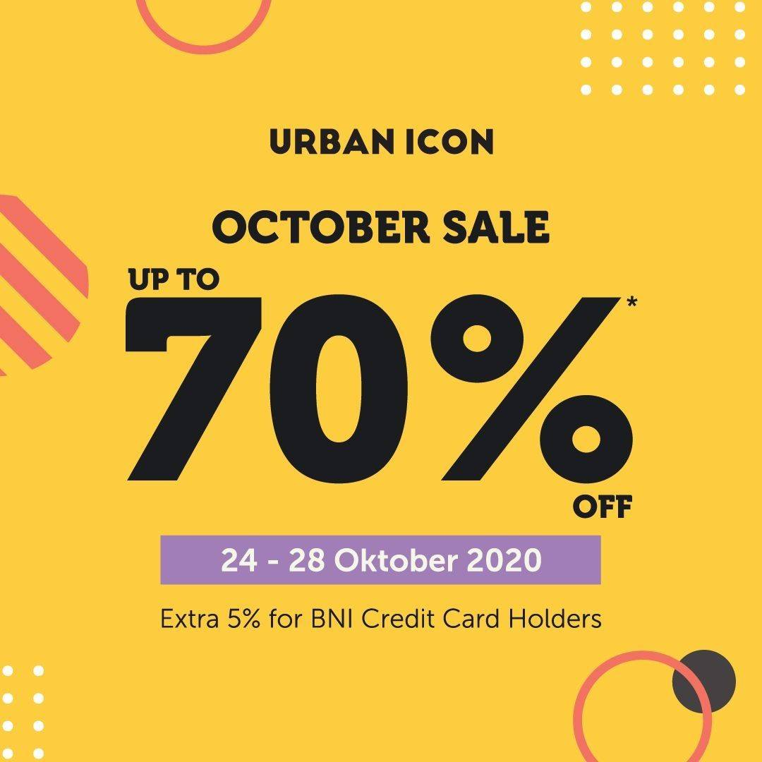 Diskon Urban Icon October Sale Up To 70% Off + Extra 5% With BNI Credit Card