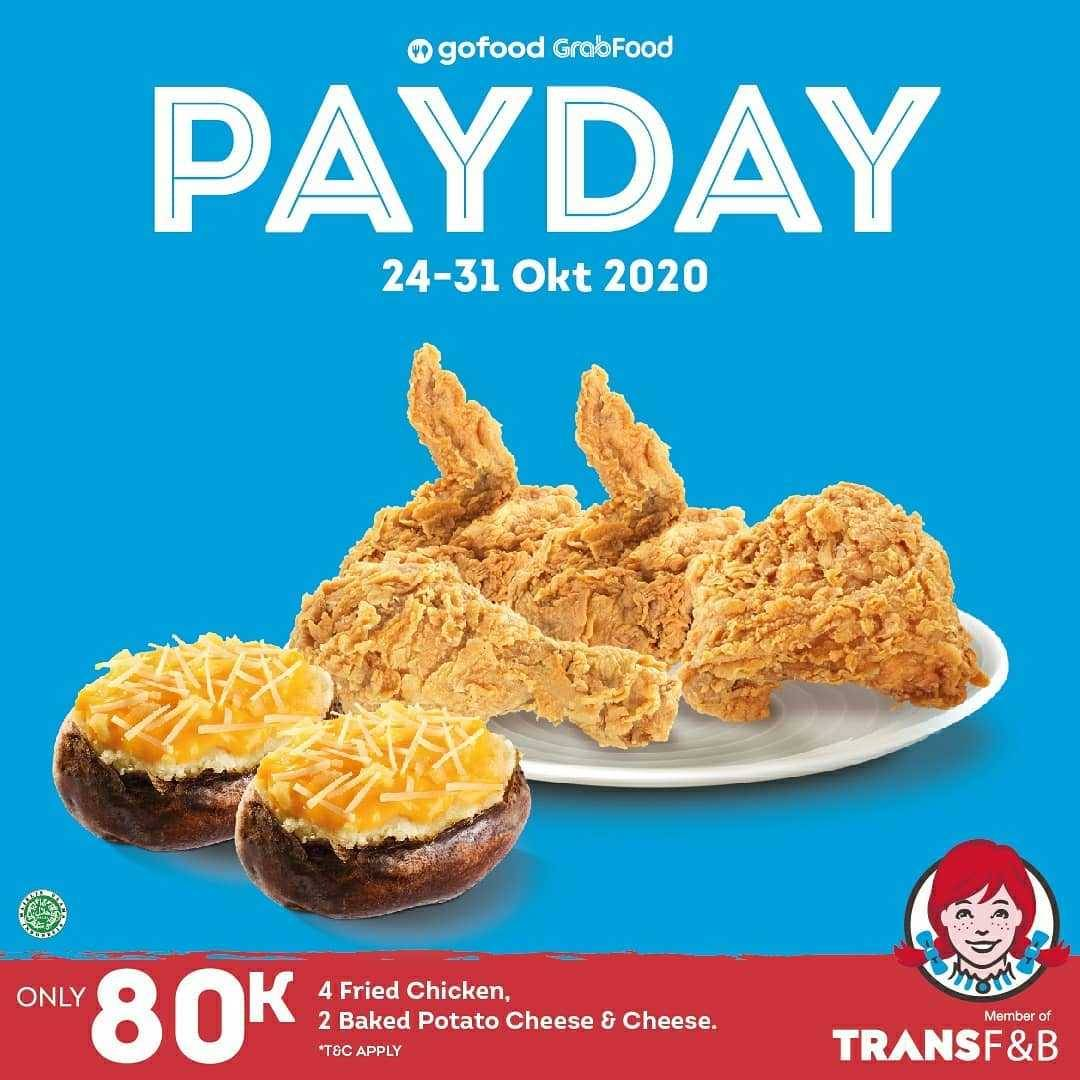 Promo diskon Wendys Promo Payday Package Only For Rp. 80.000