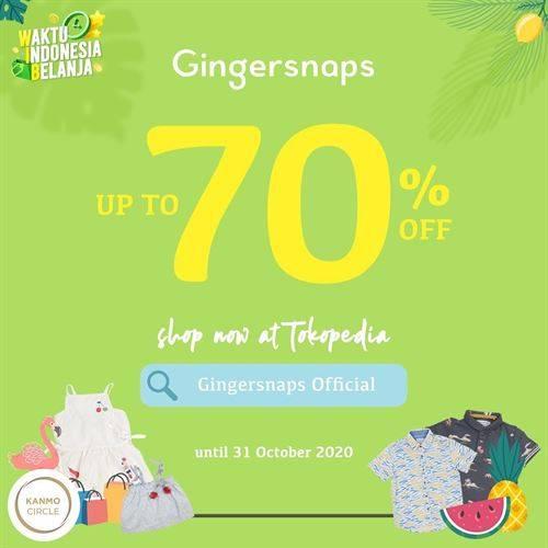 Diskon Gingersnaps Promo Tokopedia Discount Up to 70%
