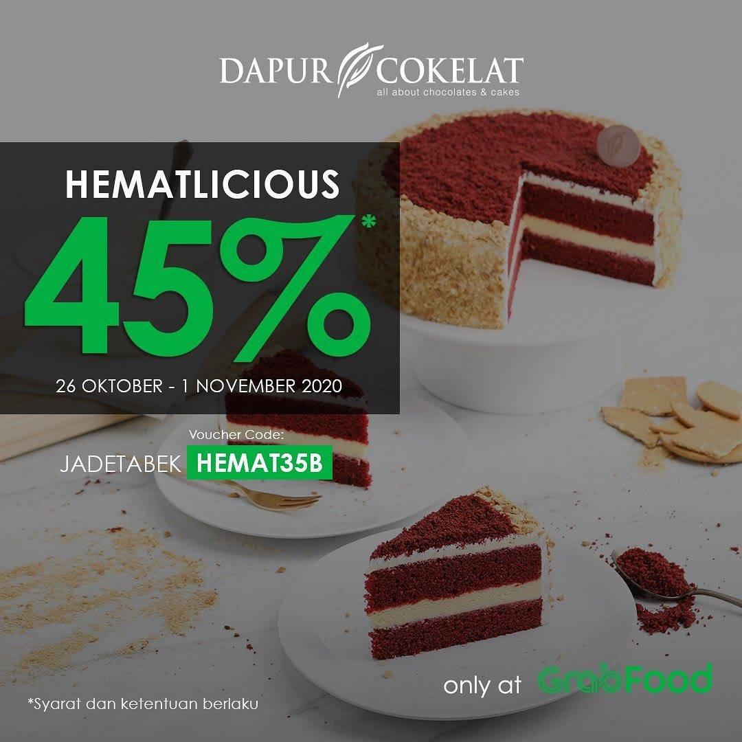 Diskon Dapur Cokelat Promo Hematlicious - Diskon 50% Di GrabFood