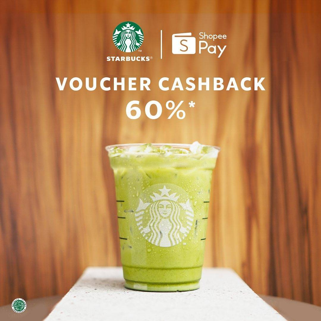 Diskon Starbucks Promo ShopeePay Voucher Cashback 60%