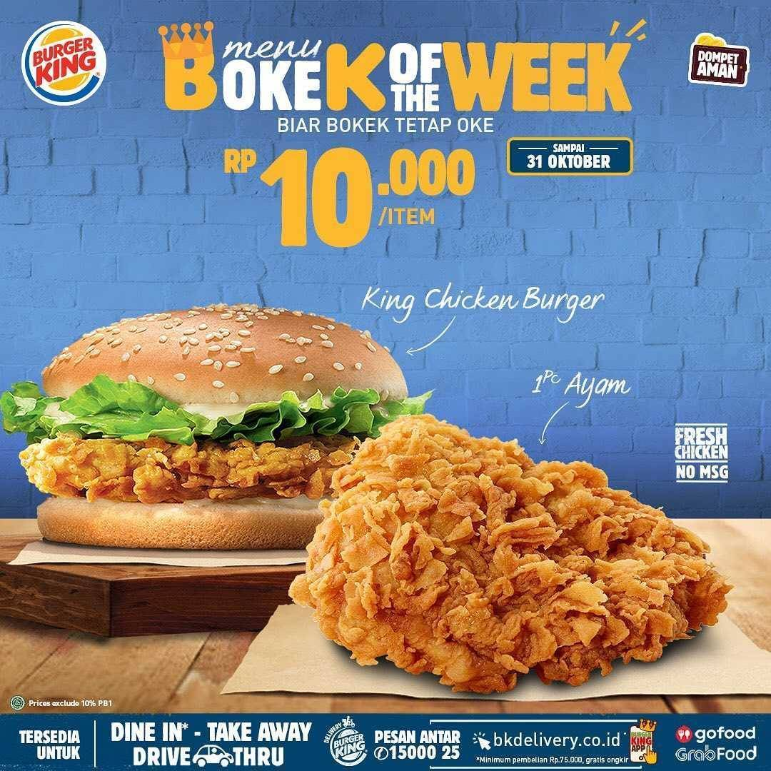 Promo diskon Burger King Promo Bokek Of The Week