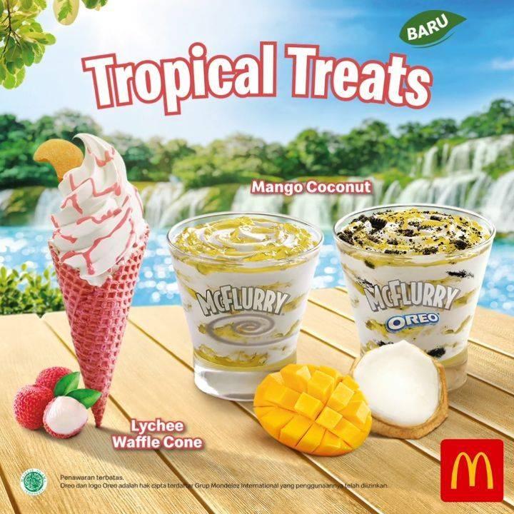 Diskon McDonalds Promo Tropical Treats- Harga Mulai Dari Rp. 10.000