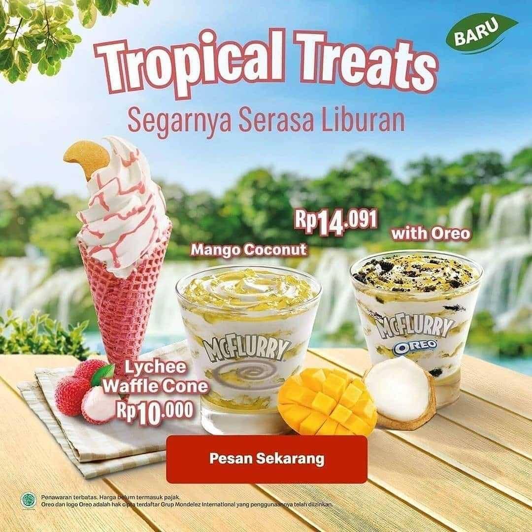 Promo diskon McDonalds Promo Tropical Treats- Harga Mulai Dari Rp. 10.000