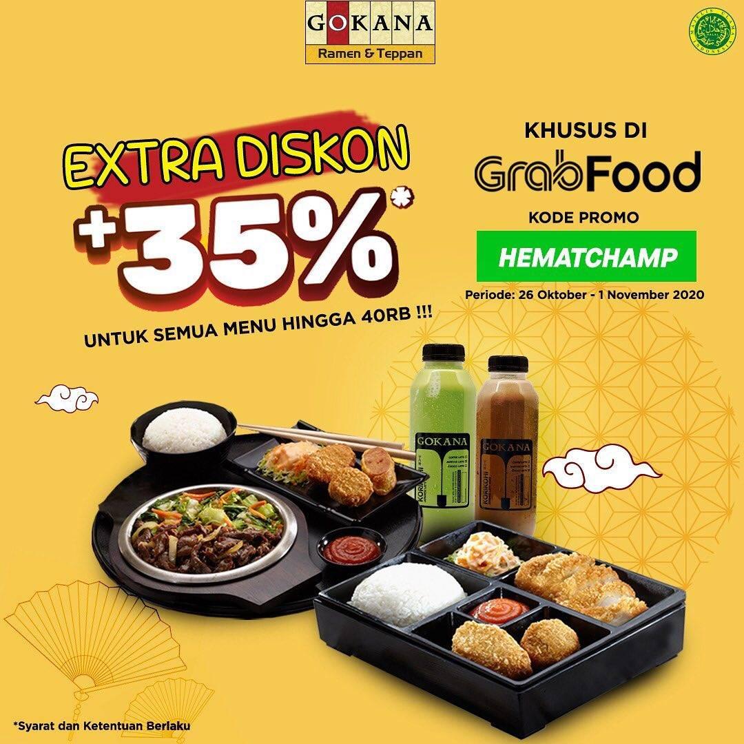Diskon Gokana Extra Diskon 35% Dengan GrabFood
