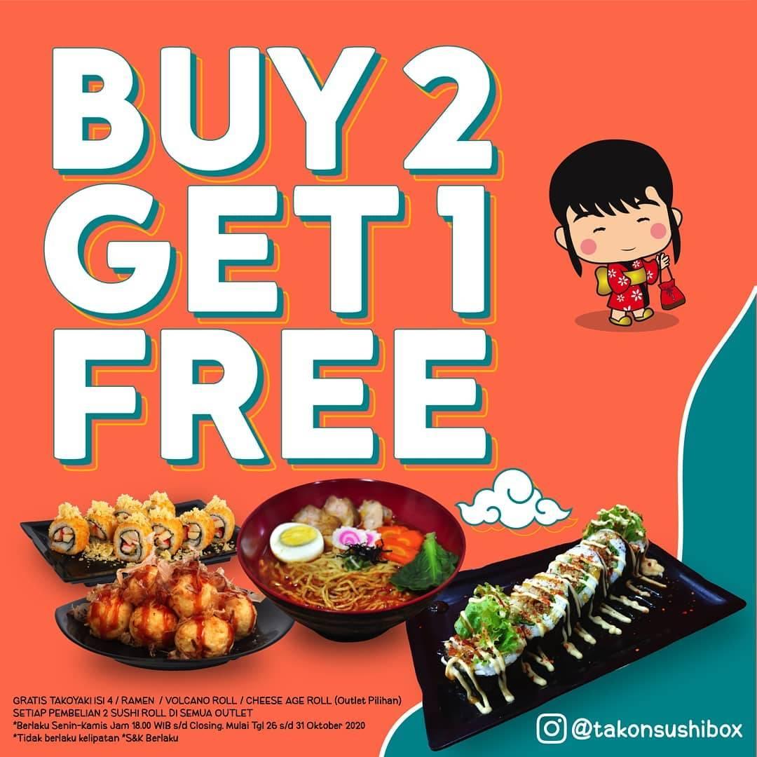 Diskon Tako n Sushi Buy 2 Get 1 Free Menu Baru