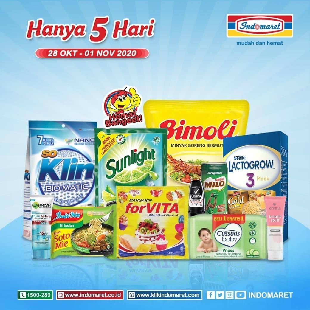 Diskon Katalog Promo Indomaret Hanya 5 Hari Periode 28 Oktober - 1 November 2020