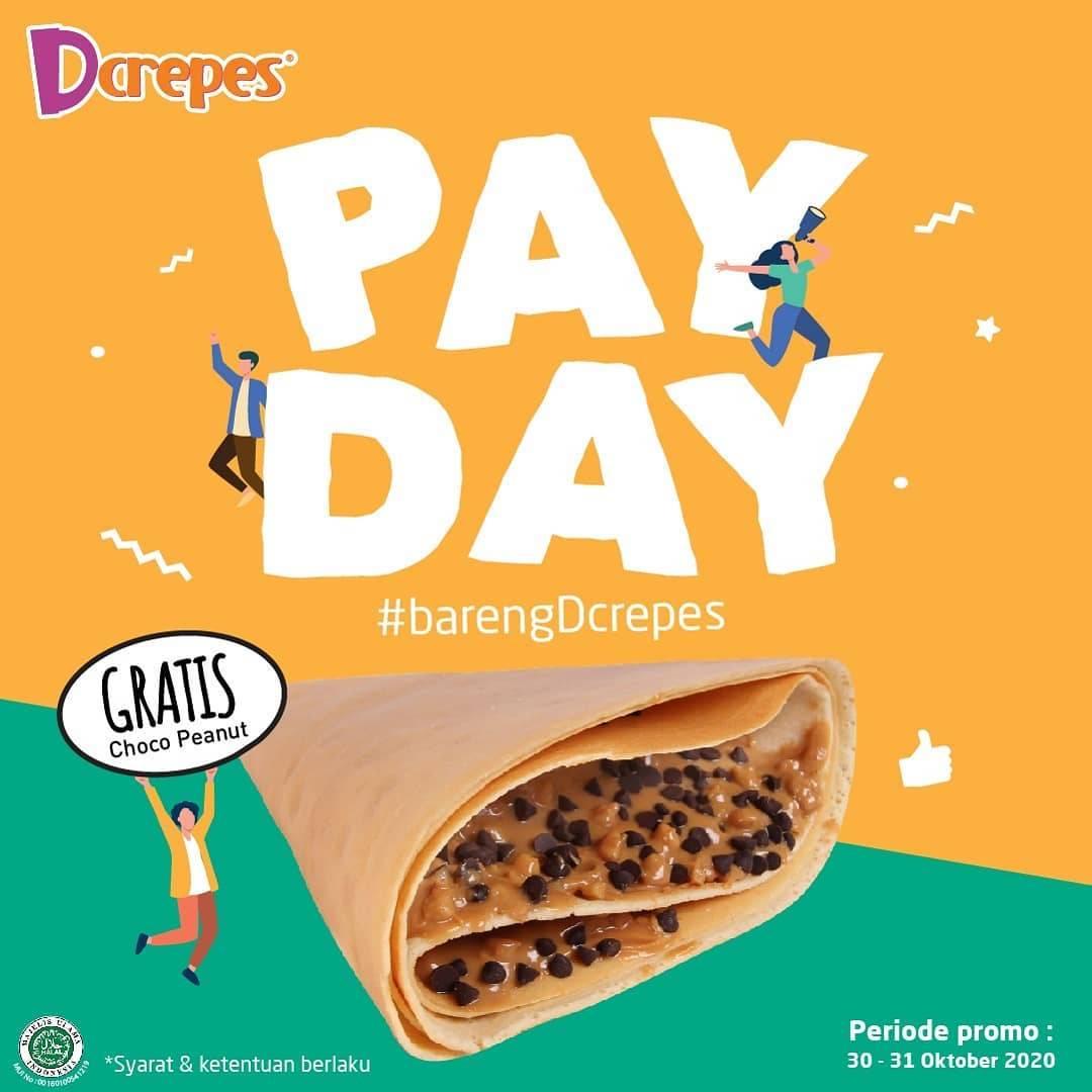 Diskon DCrepes Promo Payday Gratis Choco Peanut