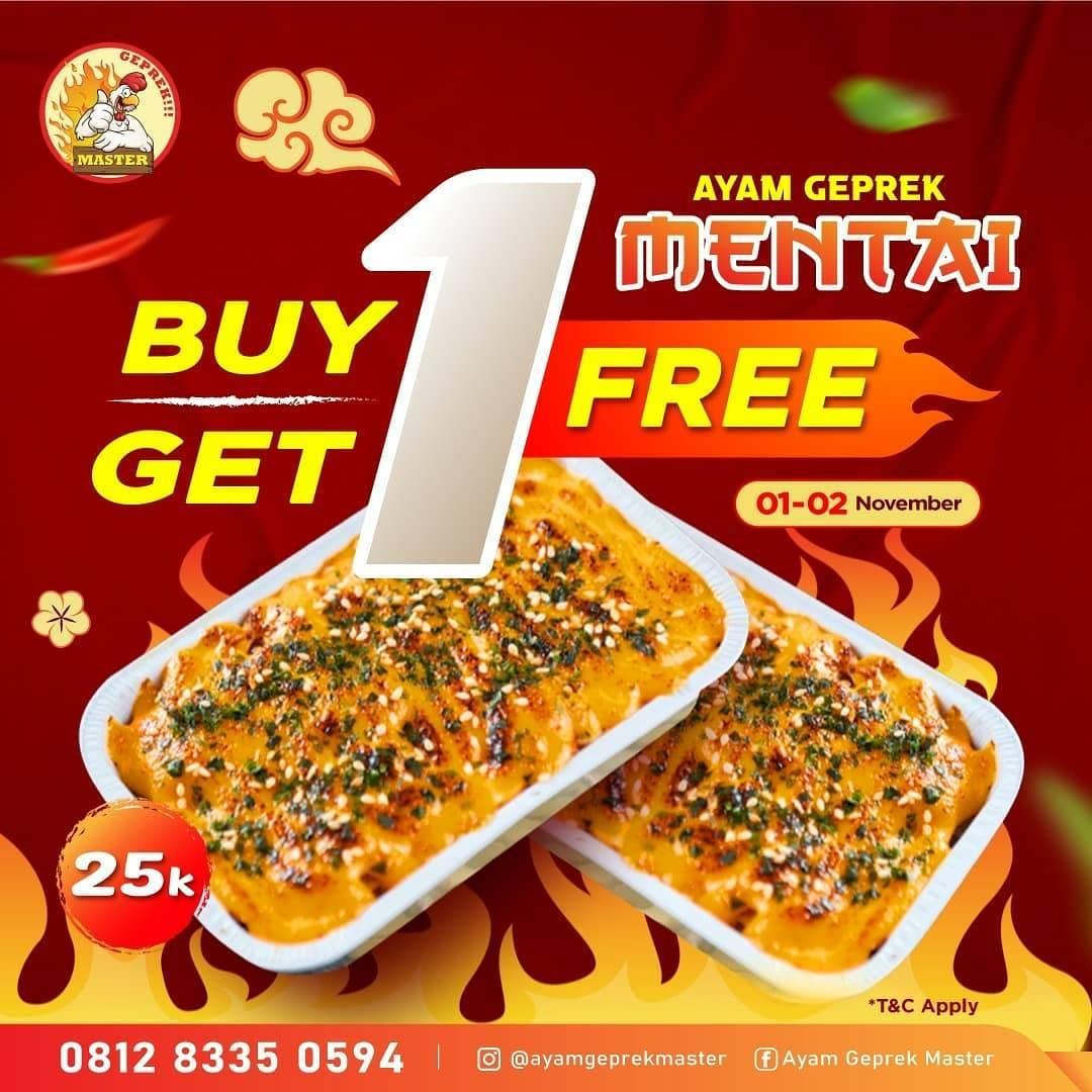 Diskon Ayam Geprek Master Buy 1 Get 1 Free