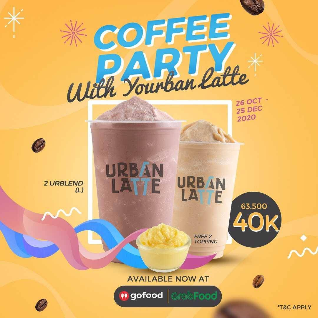 Promo diskon Urban Latte Promo Coffee Party