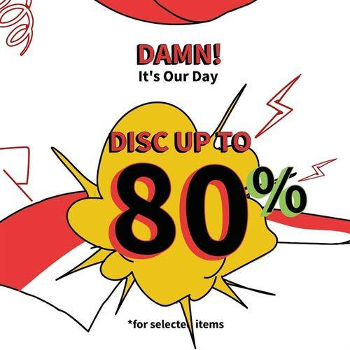 Diskon Damn! I Love Indonesia Promo Damn Its Our Day Discount Up to 80%